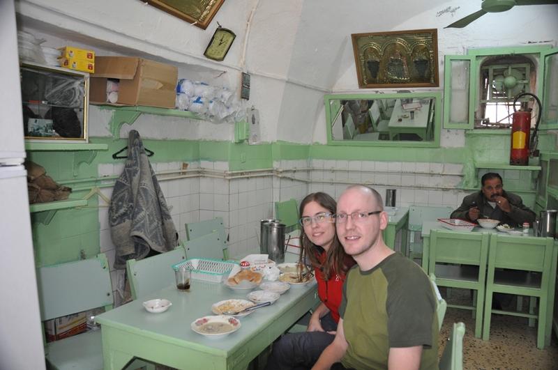 En grøn restaurant i Karak i Jordan