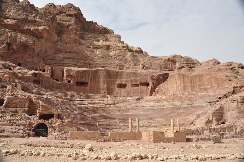 Romerske efterladenskaber i Petra i Jordan