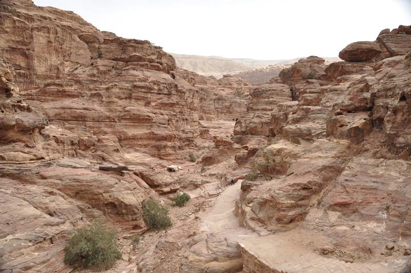 Det smukke landskab omkring Petra i Jordan