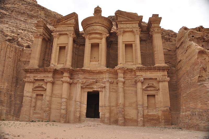 The Monastery i Petra i Jordan