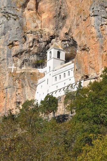 Ostrog klosteret i Montenegro