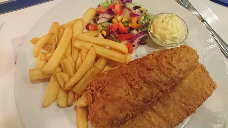 Fish and chips paa Lysthuset