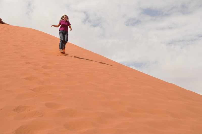 Anne Marie i Wadi Rum ørkenen i Jordan