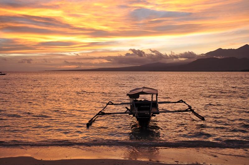 Solnedgang på Gili Air