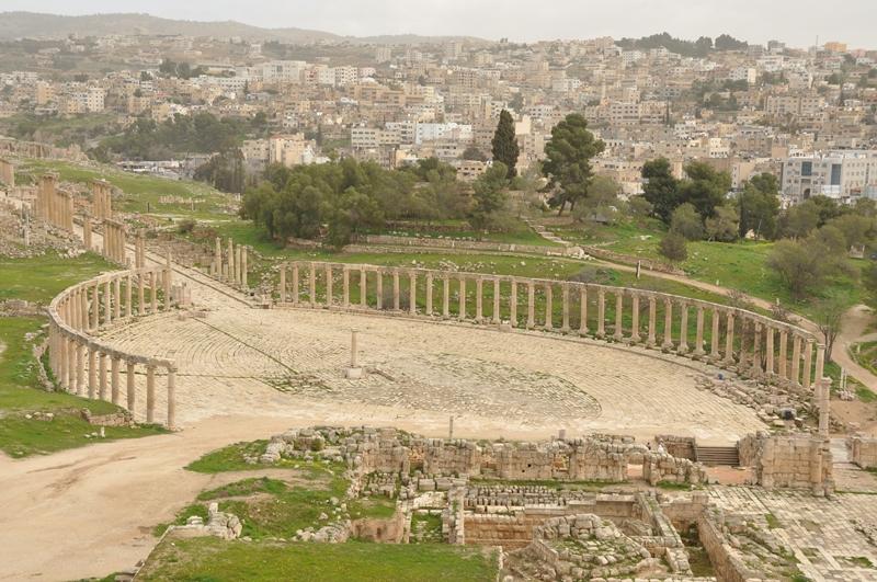 Den romerske by Jerash i Jordan