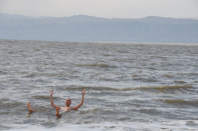 Rasmus i Det døde hav i Jordan