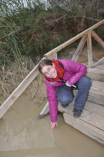 Anne Marie og Jordanfloden i Jordan