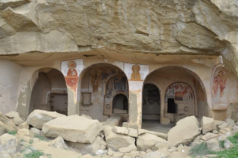 Gammelt kloster i Georgien David Gareja