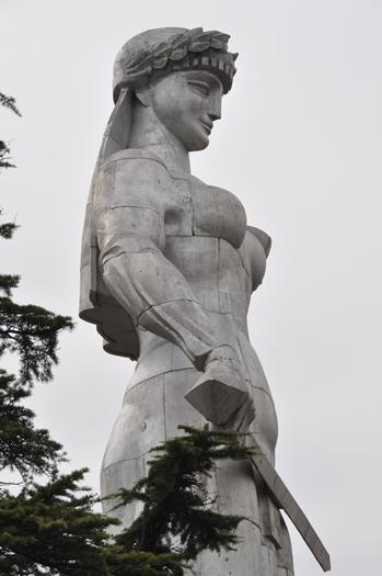 Statue i Tblisi i Georgien