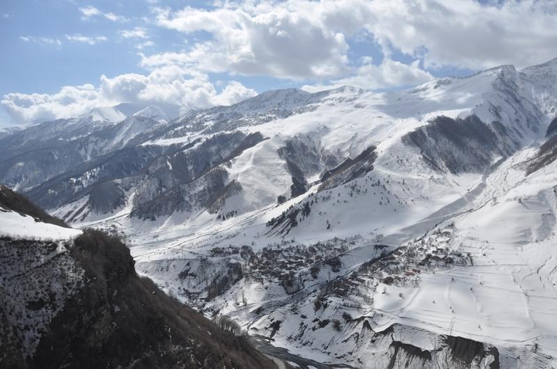 Bjerglandskab i det nordlige Georgien