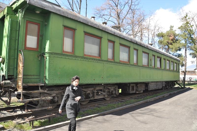 Stalins togvogn i Gori, Georgien