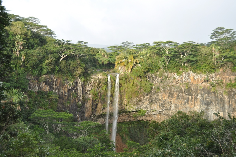 Charmarel waterfall på Mauritius