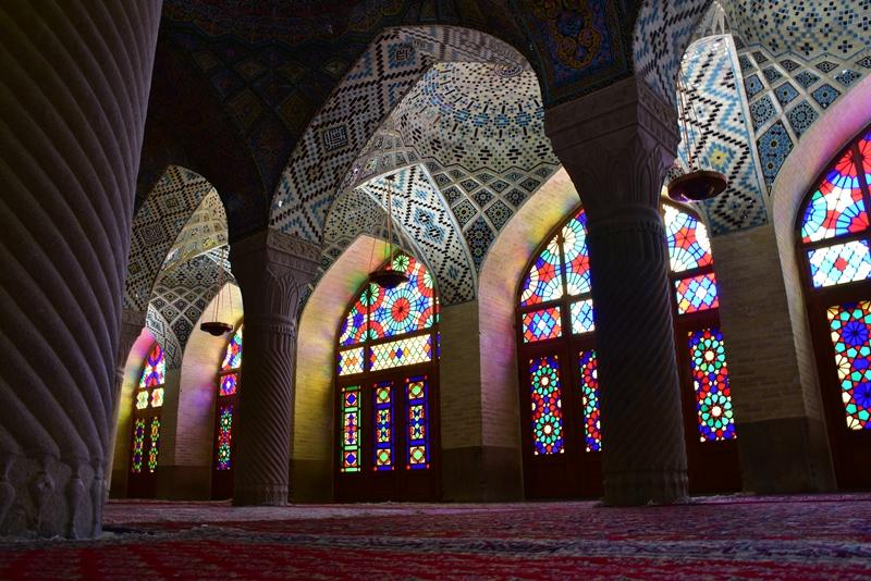 Flot loft og glasmosaik, Shiraz, Iran