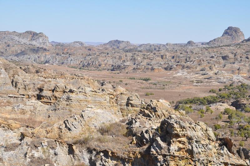 Landskabet i Isalo Nationalpark i Madagaskar
