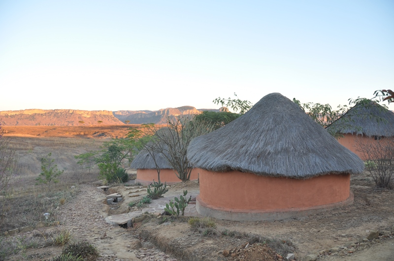 Vores hotel Chez Alice ved Isalo i Madagaskar