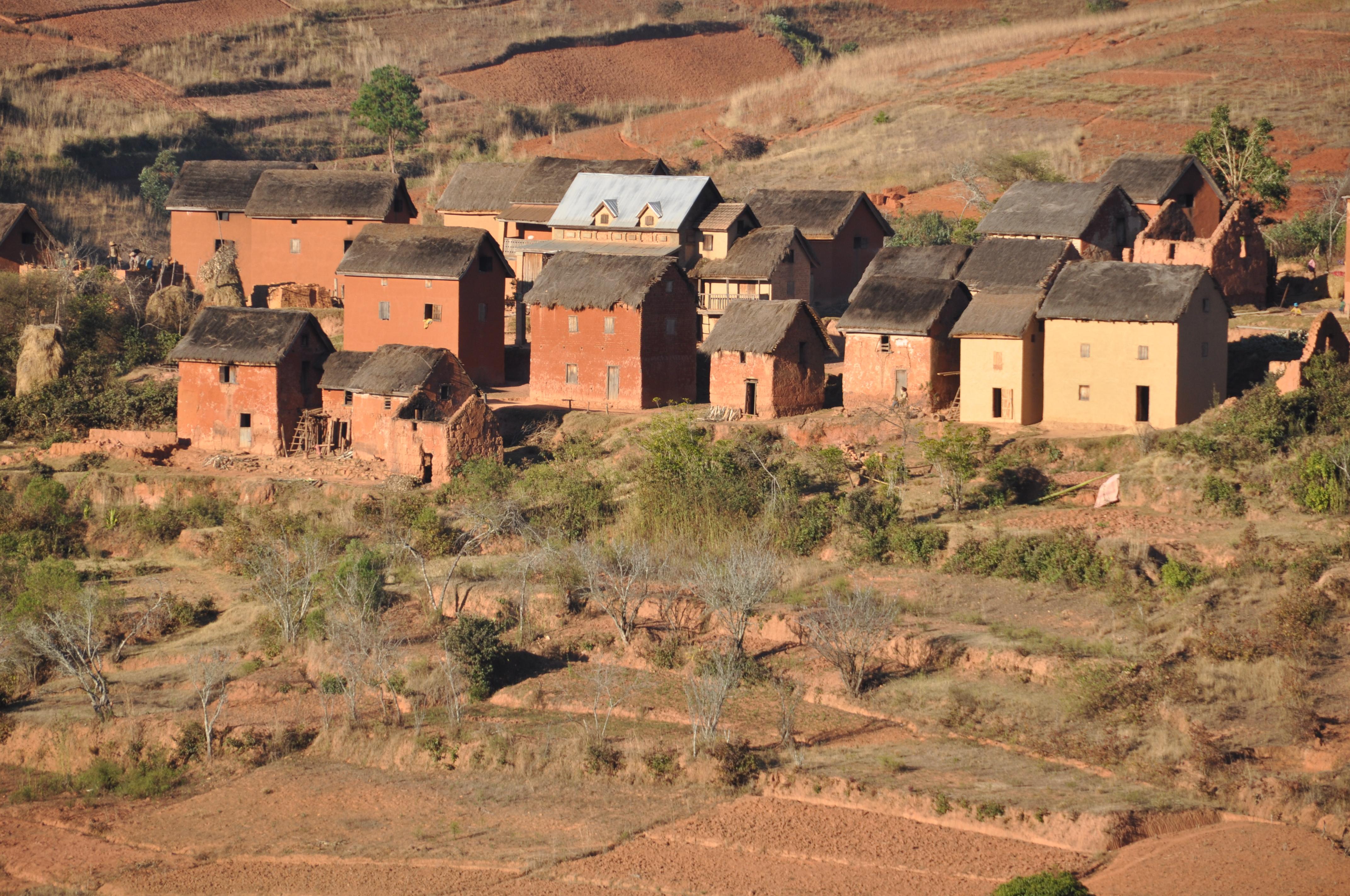 Flotte lerhuse fra roadtrip i Madagaskar