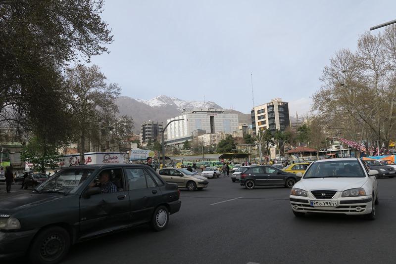 Trafikken er kaotisk i Teheran
