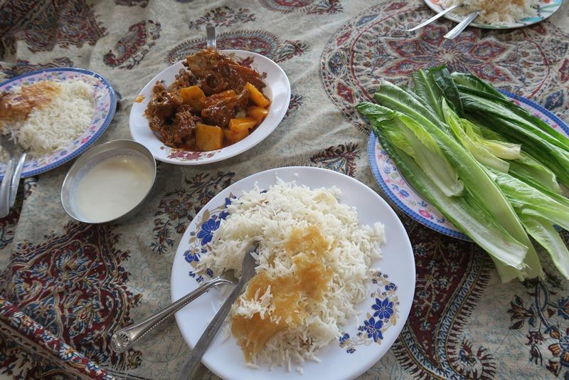 Frokost hos nomader i Iran