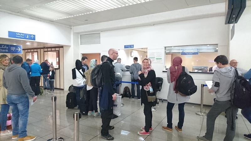 Møde med Bettina i Teheran lufthavn