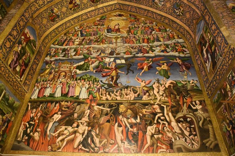 Vægbillede i den Armenske katedral
