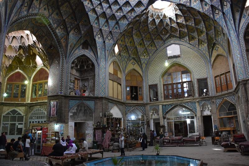 Den fine bazar i Kashan