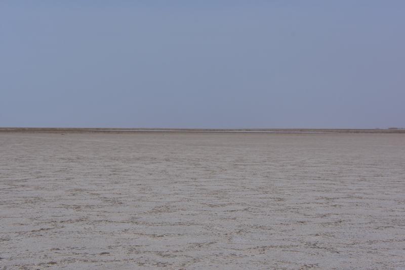 Saltsø nær Kashan i Iran