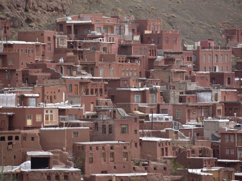 Flot udsigt over byen Abyaneh i Iran
