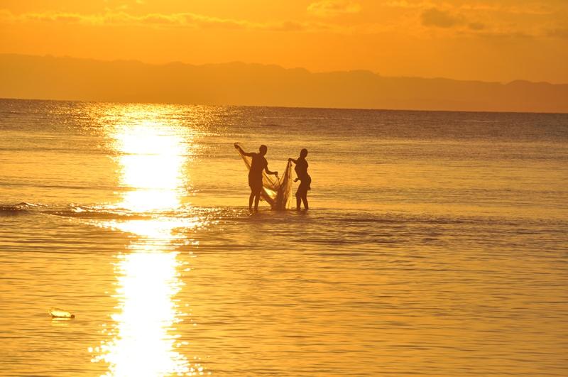 Solnedgang på Ile Sante Marie, Madagaskar