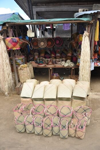 Kurve på markedet i Mananara
