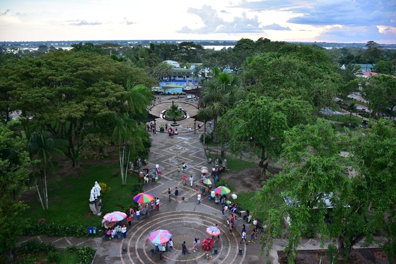 Udsigt fra kirketårnet i Leticia, Colombia