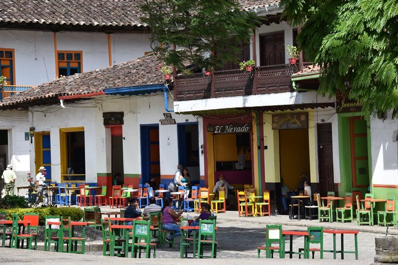 Torvet i Jardín, Colombia