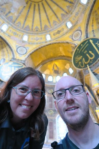 Two Danes On Tour i Hagia Sophia