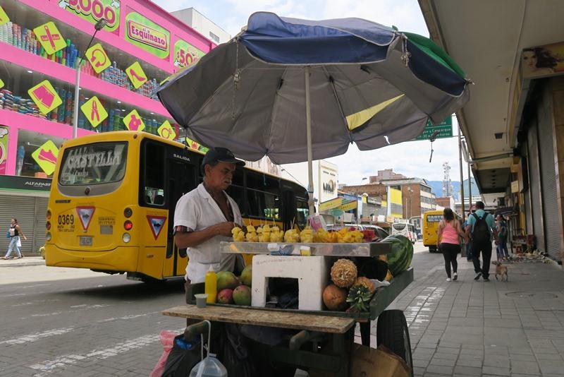 Frugtbod i Medellin, Colombia