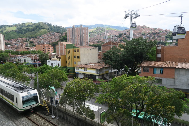 Metro og svævebane i Medellin, Colombia