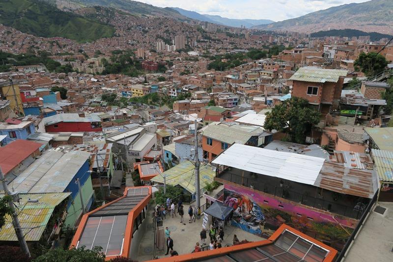 Udsigt over Comuna 13, Medellin, Colombia