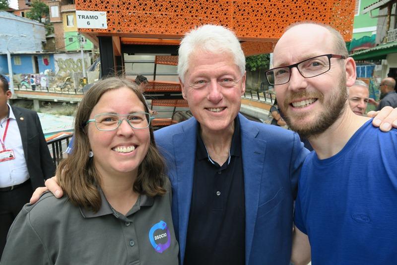 Selfie med Bill Clinton i Comuna 13, Medellin, Colombia