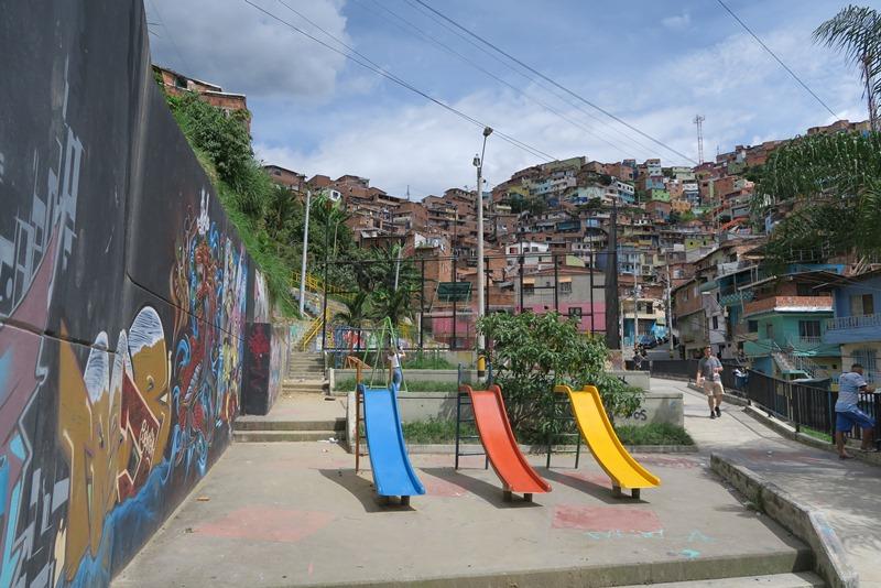 Legeplads i Comuna 13, Medellin