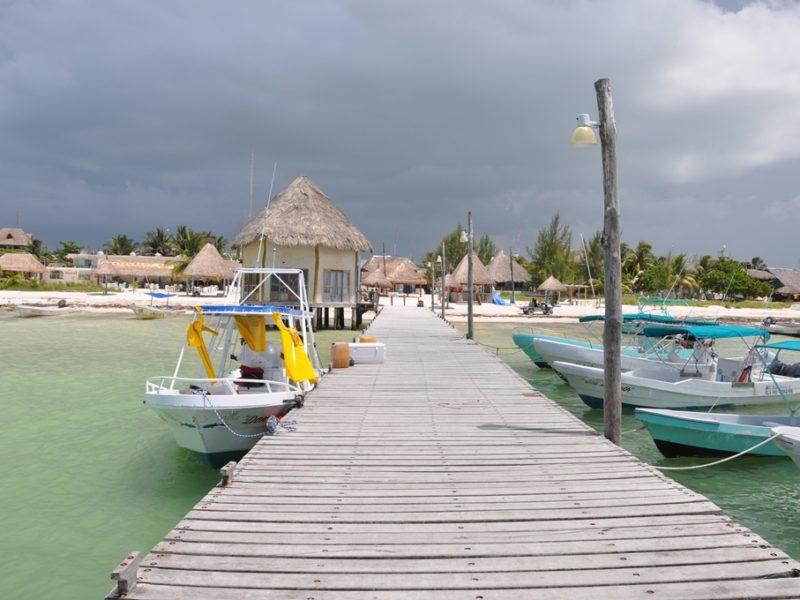 Den skønne ø Holbox i Mexico