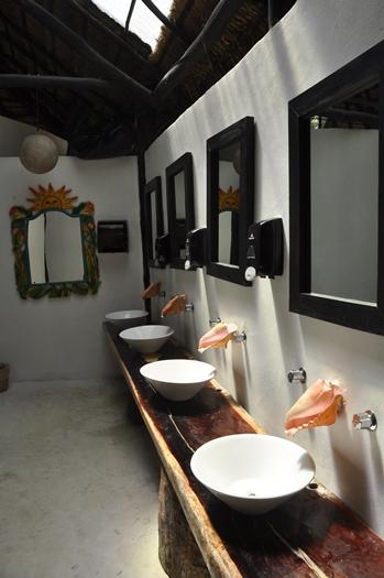 Fedt badeværelse i Tulum, Mexico