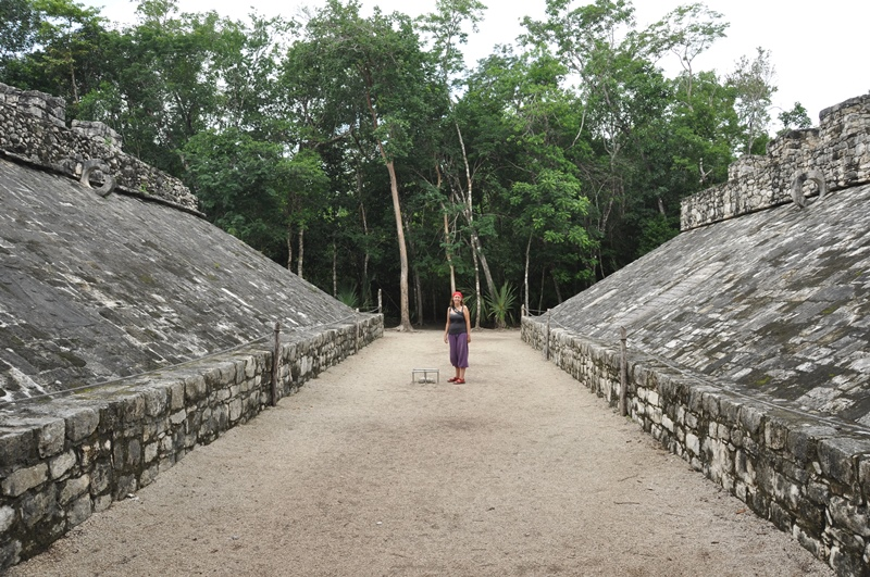 Den gamle boldbane til spillet Poc ta poc, Mexico