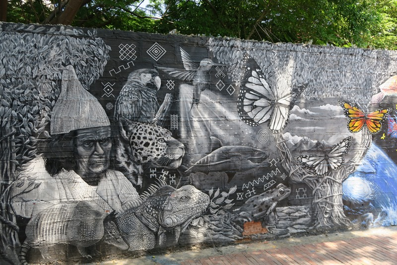 Street art i Santa Marta, Colombia