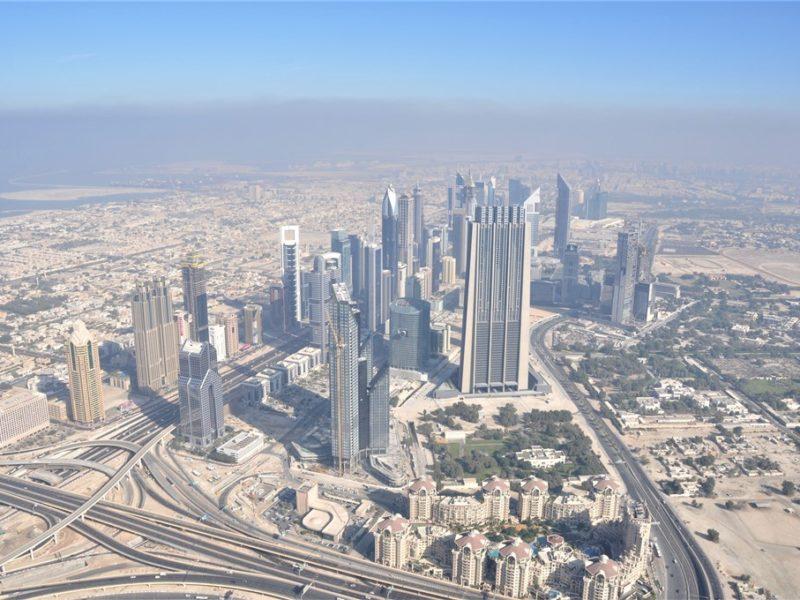 Udsigt over Dubai fra Burj Khalifa
