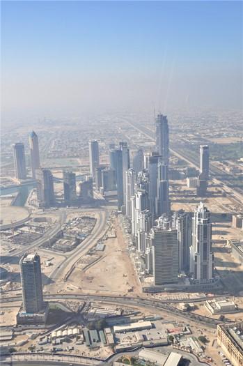 Udsigten fra Burj Khalifa, Dubai