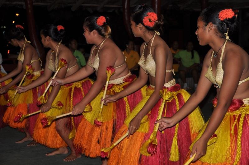 Traditionel dans på Palau