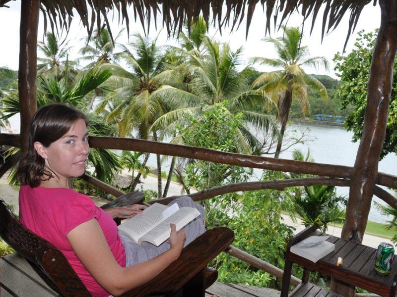 Udsigten på vores hotel på Yap