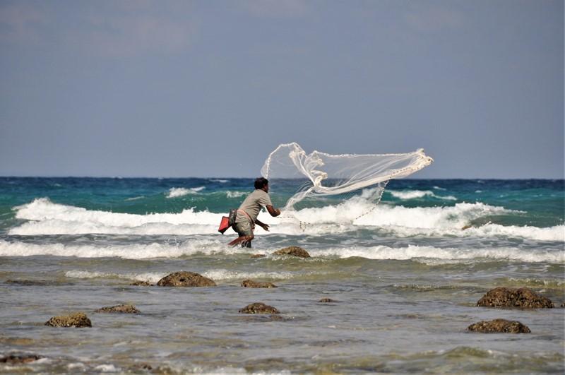Fisker på Neil Island, Andamanerne