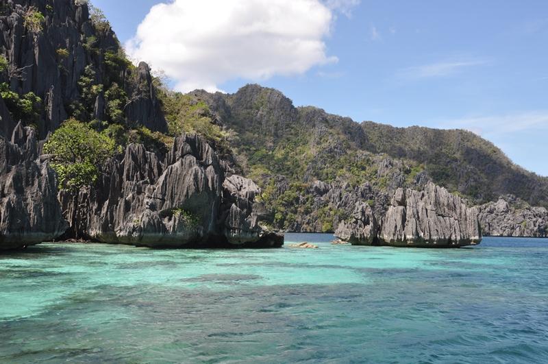 Smukt landskab ved Coron, Filippinerne