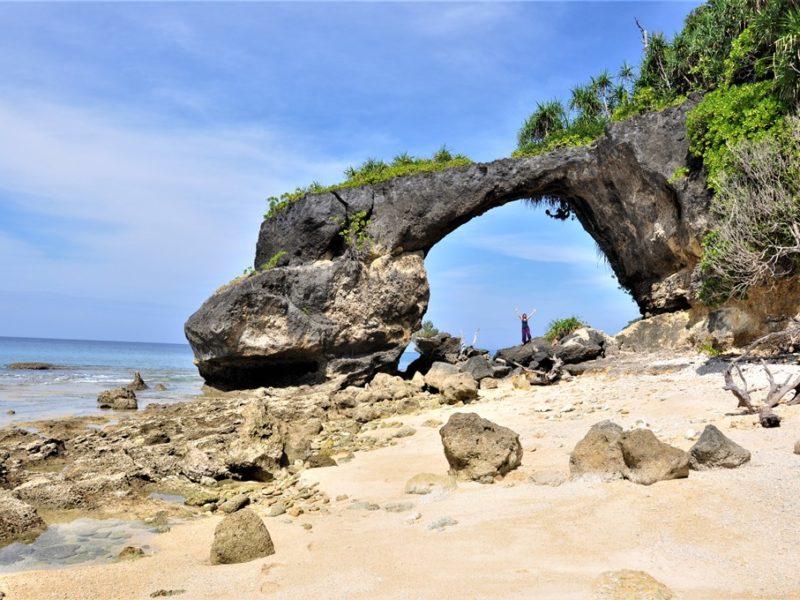 Flot klippe på Neil Island, Andamanerne