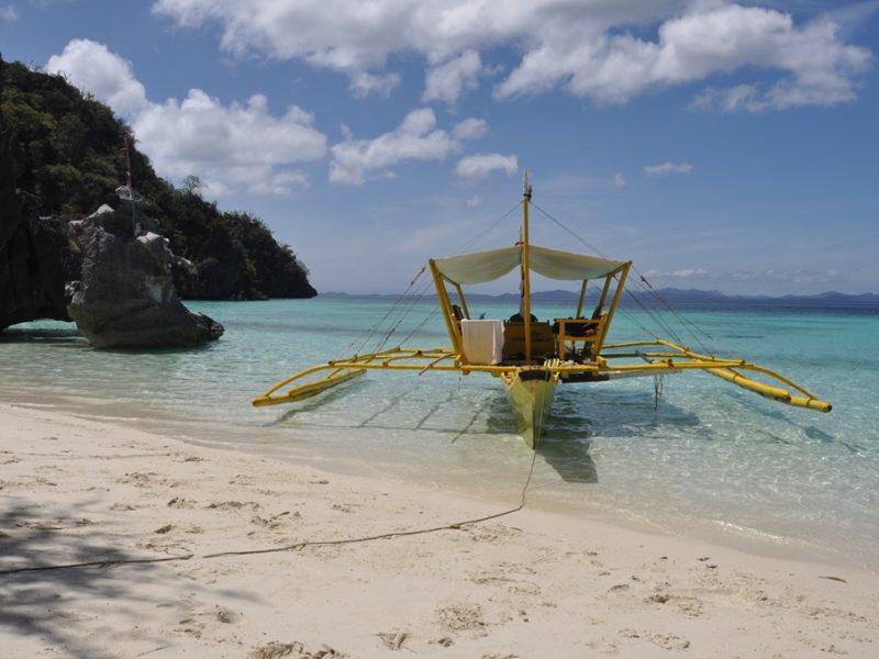 Vores egen private strand ved Coron, Filippinerne