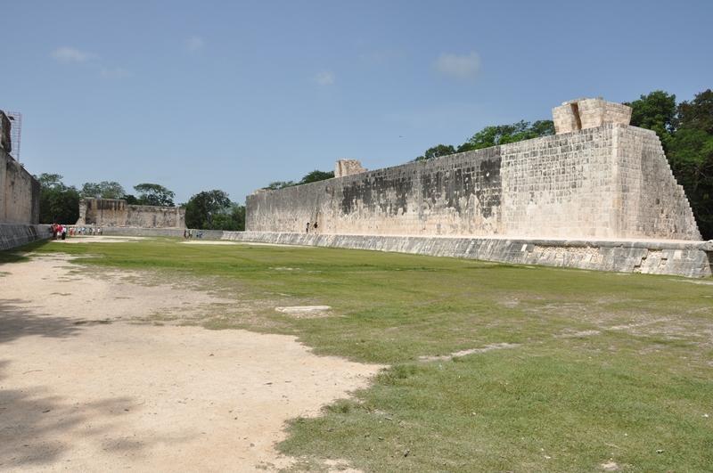 Boldbane ved mayaruin, Mexico